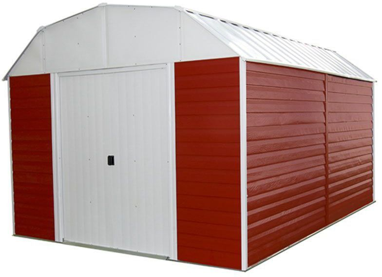 Arrow Shed Rh1014 C1 Red Barn 10x14 Steel Sheds Steel Storage Sheds Metal Storage Sheds