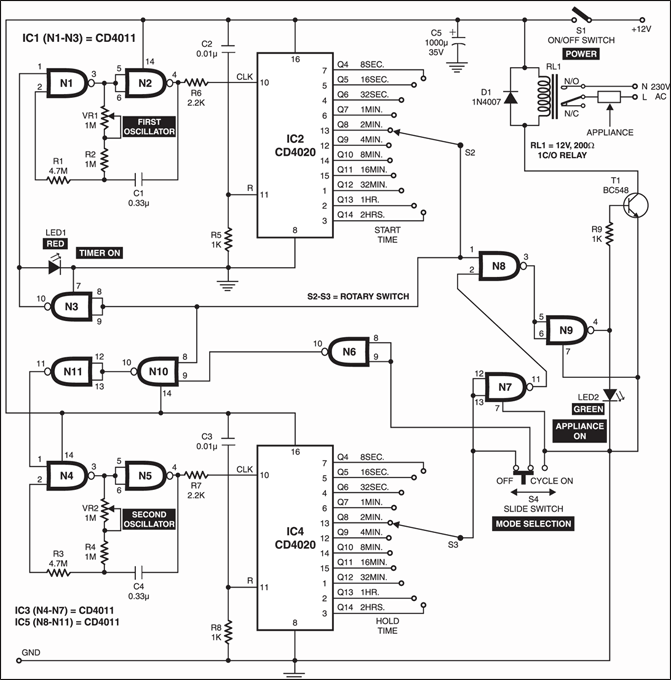 programmable timer for appliance u2013 electronics project