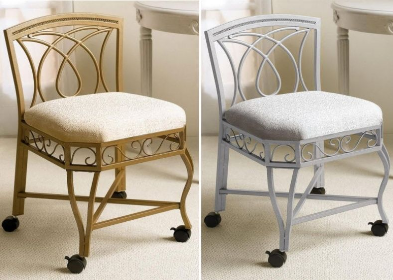 Exceptionnel Vanity Chairs With Wheels