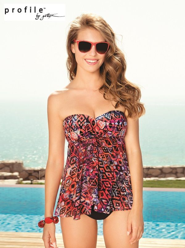 ff0f0268d8530 Profile by Gottex flyaway mesh tankini | Bikinis, tankinis and one ...