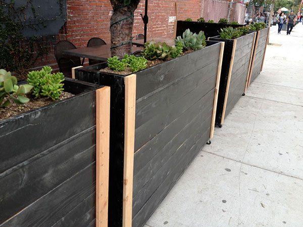 Custom Portable Privacy Living Wall Planter Designed For Outdoor Restaurant Patio Outdoor Restaurant Outdoor Restaurant Patio Planter Design