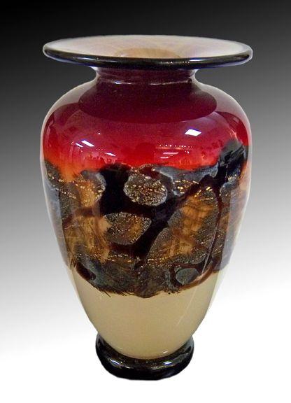 Nourot Glass Studio Scarlet Nova Mini Vase Michael Nourot Art