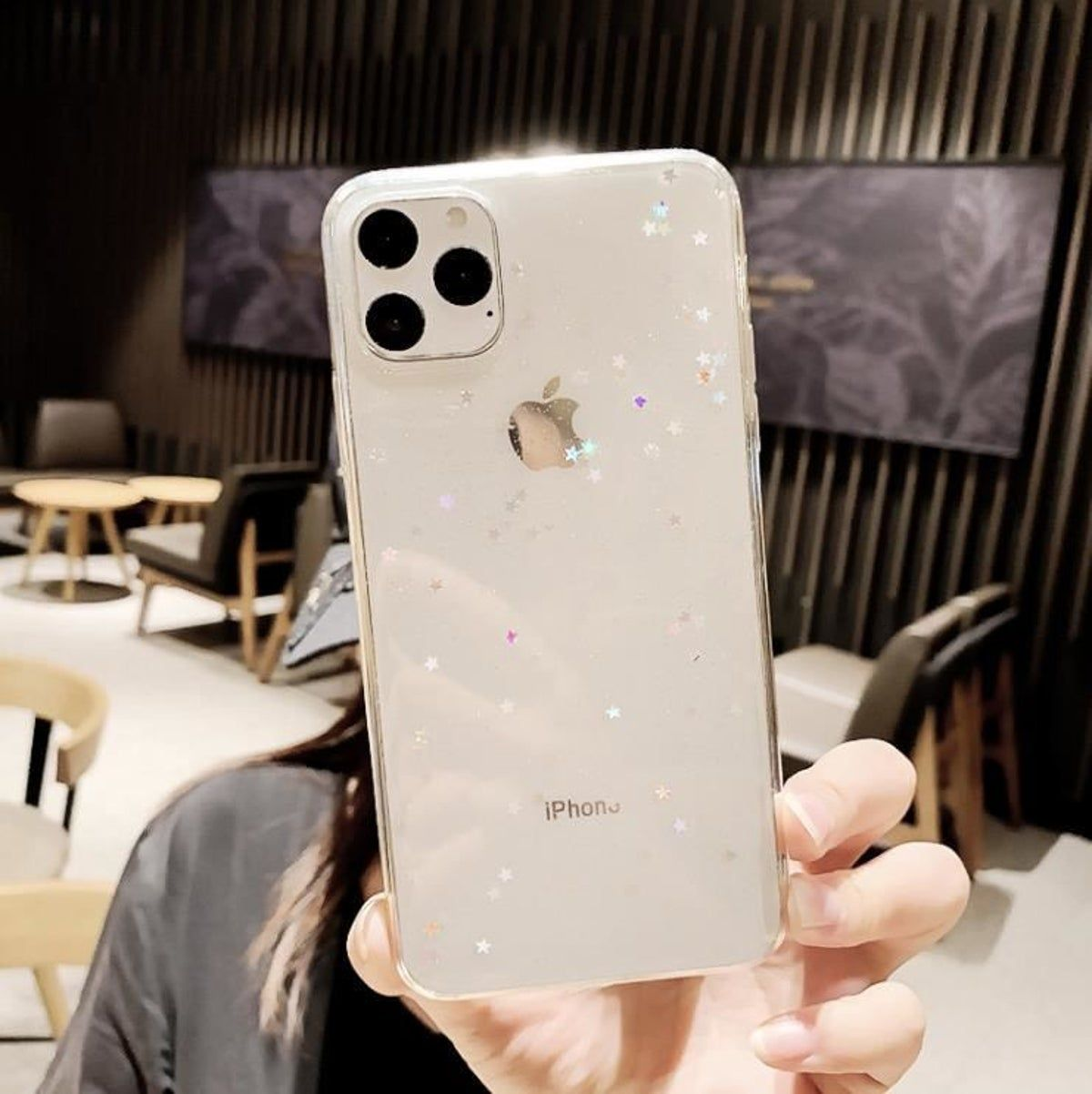 Iphone 11 Pro Case Clear Glitter Star On Mercari In 2020 Pretty Phone Cases Stylish Iphone Cases Star Phone Case