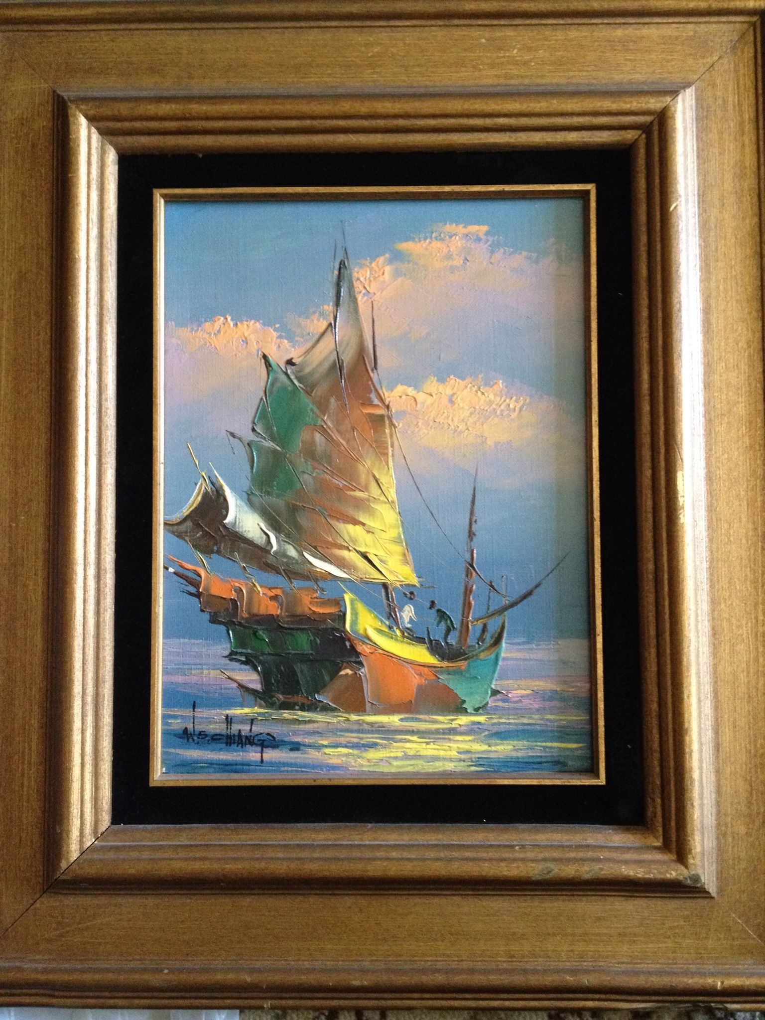 W S Chang Oil Painting Painting Art