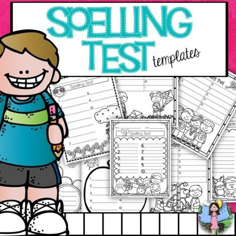 Spelling Test Freebies Students Can Color The Picture While They