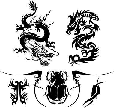 Tatuajes Para Hombres Imagenes Y Dibujos Para Imprimir Tattoos Gallery Dragon Tattoo Tribal Dragon Tattoos