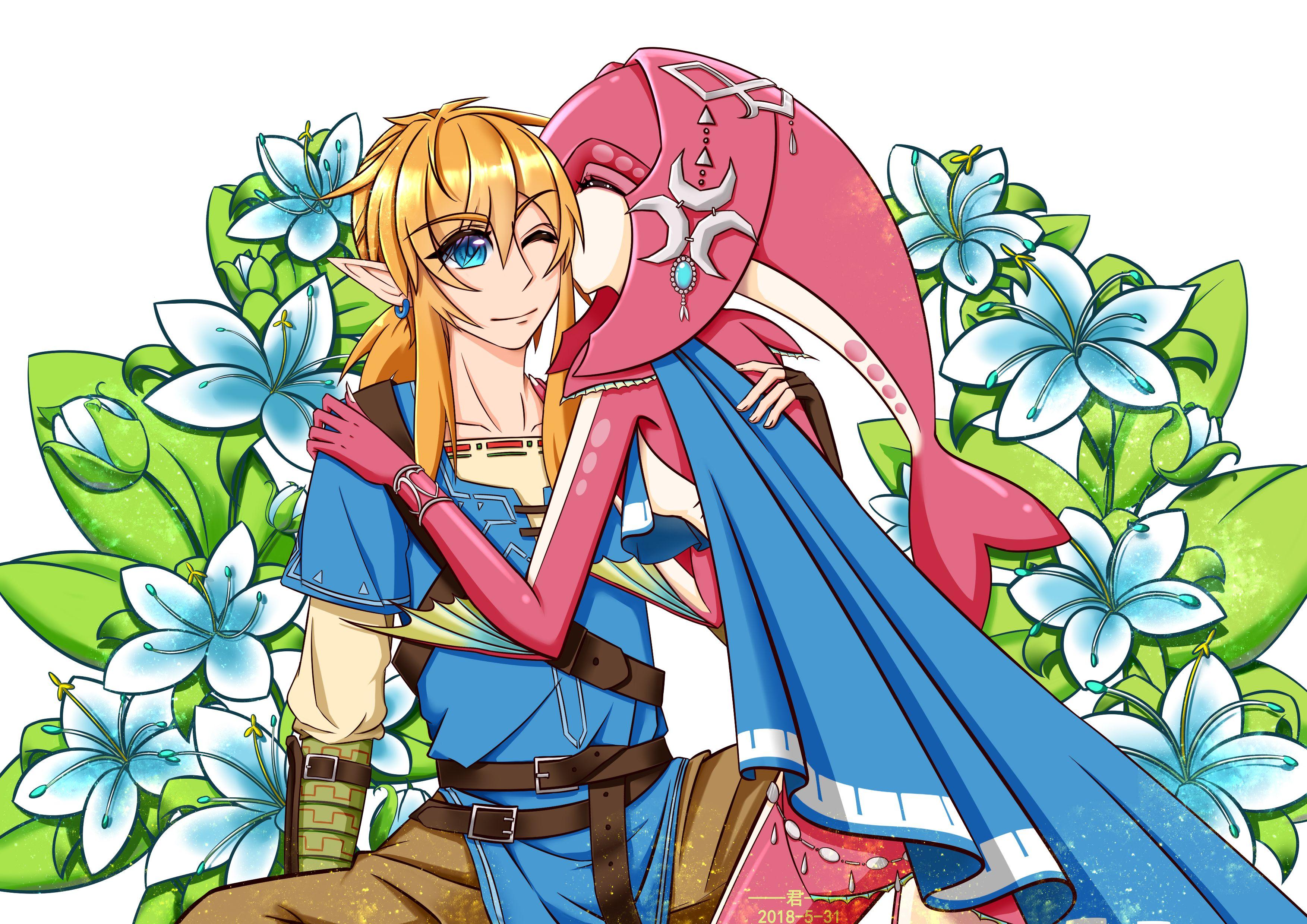 Pin by Xuânˆˆ on Link vs Mipha ( ´ ⌣`ʃƪ) Legend of zelda
