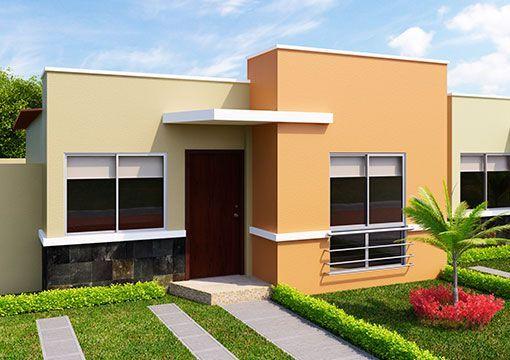 Colores para pintar las fachadas de casas colores para for Diseno de exteriores de casas pequenas