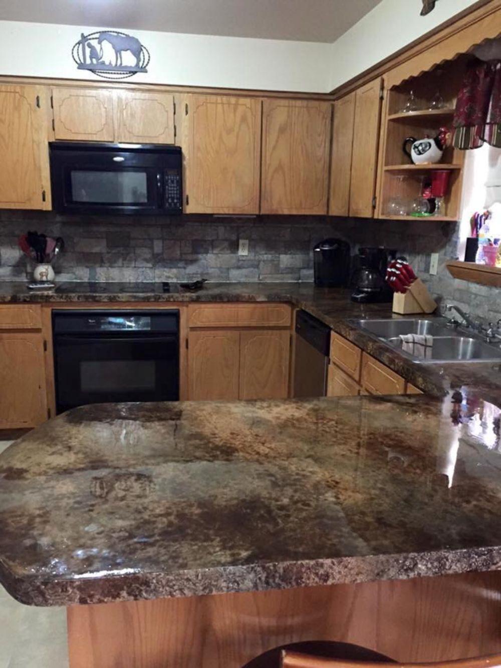 copper counter countertop countertops kitchen bamboo resin epoxy top
