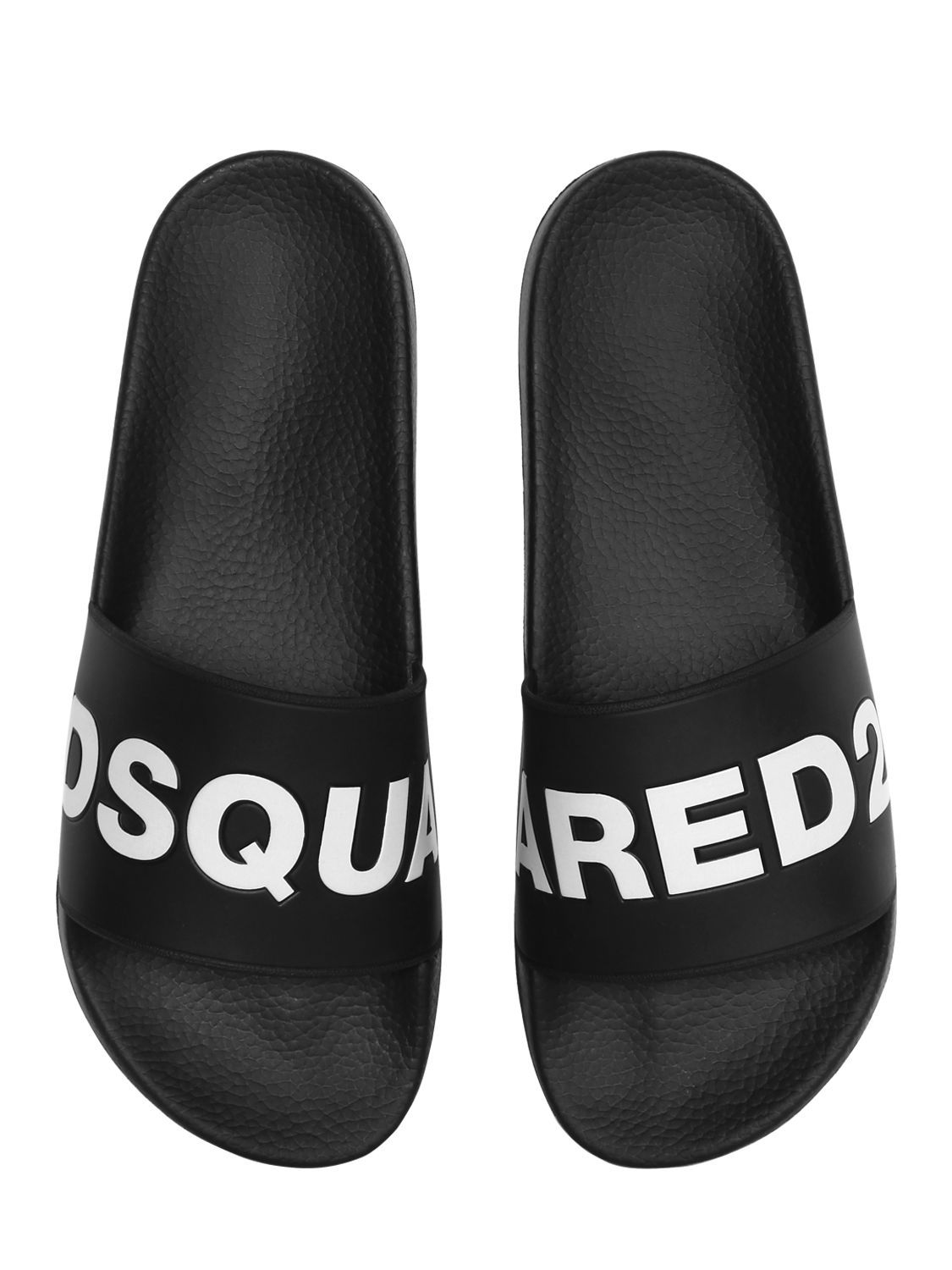 eb59c20b541a0 DSQUARED2 LOGO RUBBER SLIDE SANDALS.  dsquared2  shoes