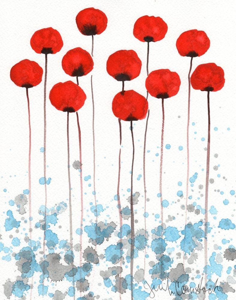 Watercolor Painting: Watercolor Flower Painting -- Art Print -- Sun ...