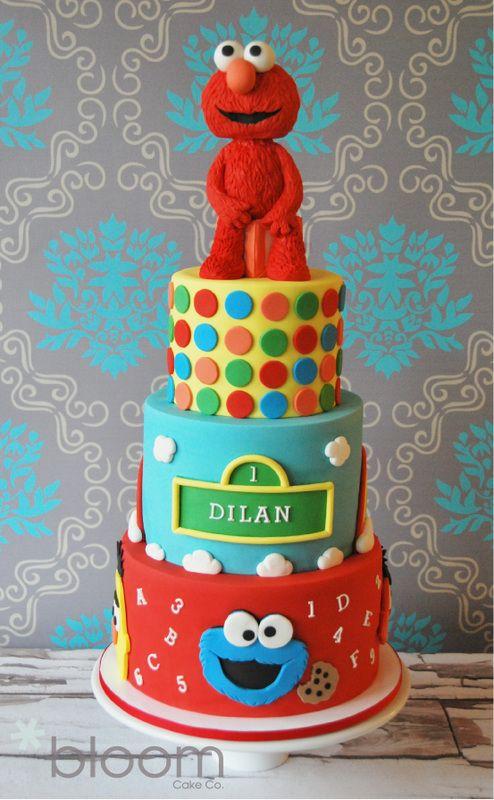 Great Sesame Street cake Birthdays Pinterest Sesame street
