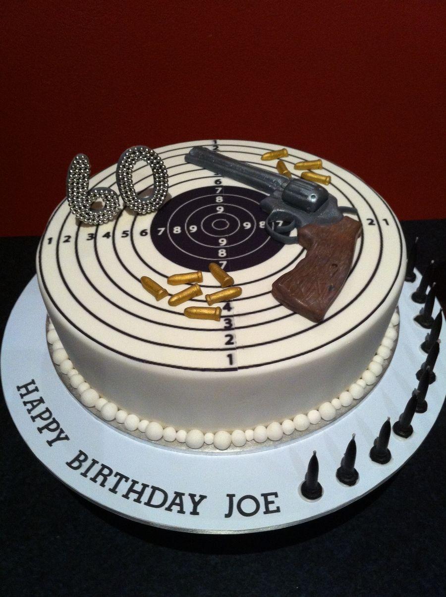 Pistol and target cake cakes pinterest target cake
