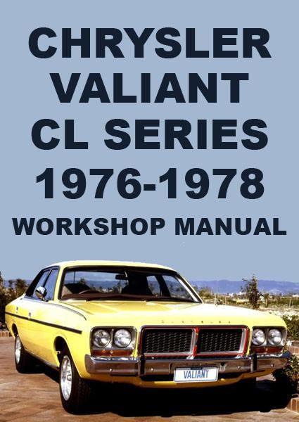 chrysler valiant cl series, 1976-1978 workshop manual