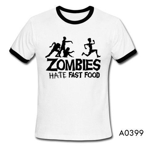 Summer Men T Shirts Zombies Funny Slogan Top Tees Glowing Swag ...