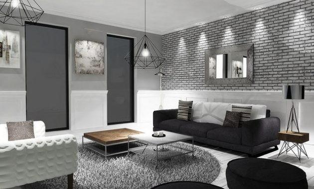 Idee Deco Salon Noir Gris Blanc Un En Et Cest Chic Voil Deco