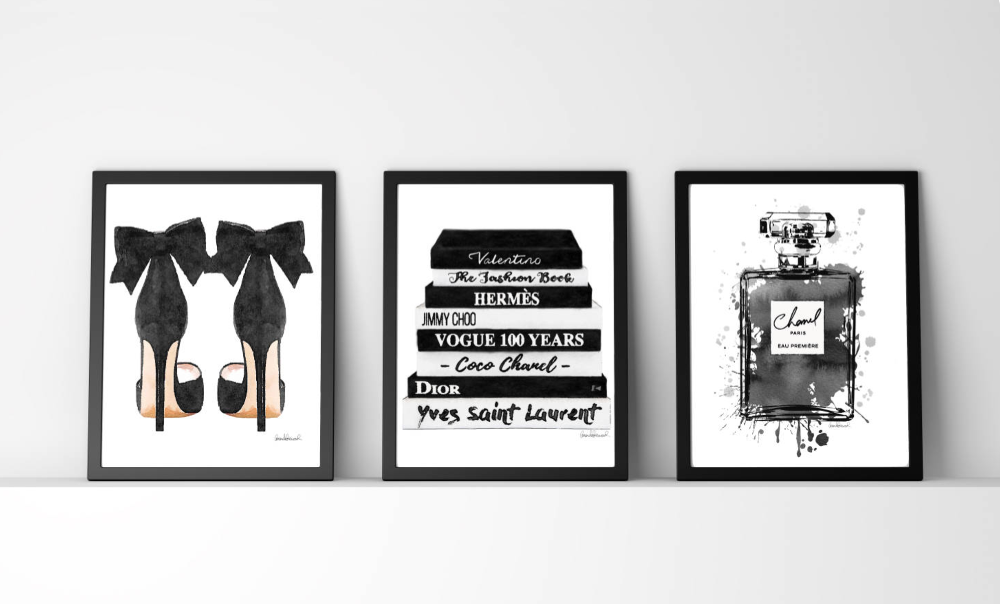 Black And White Fashion Wall Art Fashion Watercolor By Amanda Greenwood Fashion Wall Art Fashion Illustration Watercolor Black And White Decor