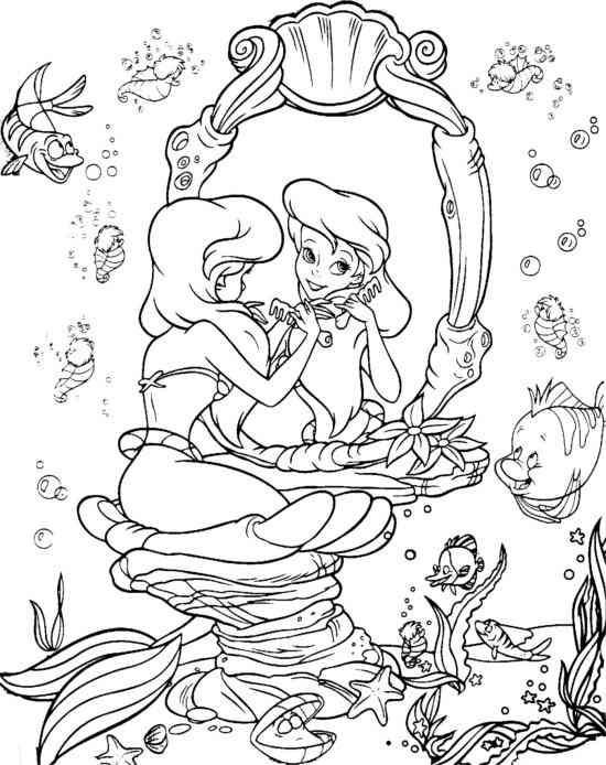 Arielle 30 Coloring 2 Pinterest Mermaid Coloring Pages