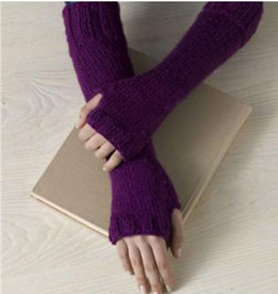 straight needles | Fingerless gloves crochet pattern ...