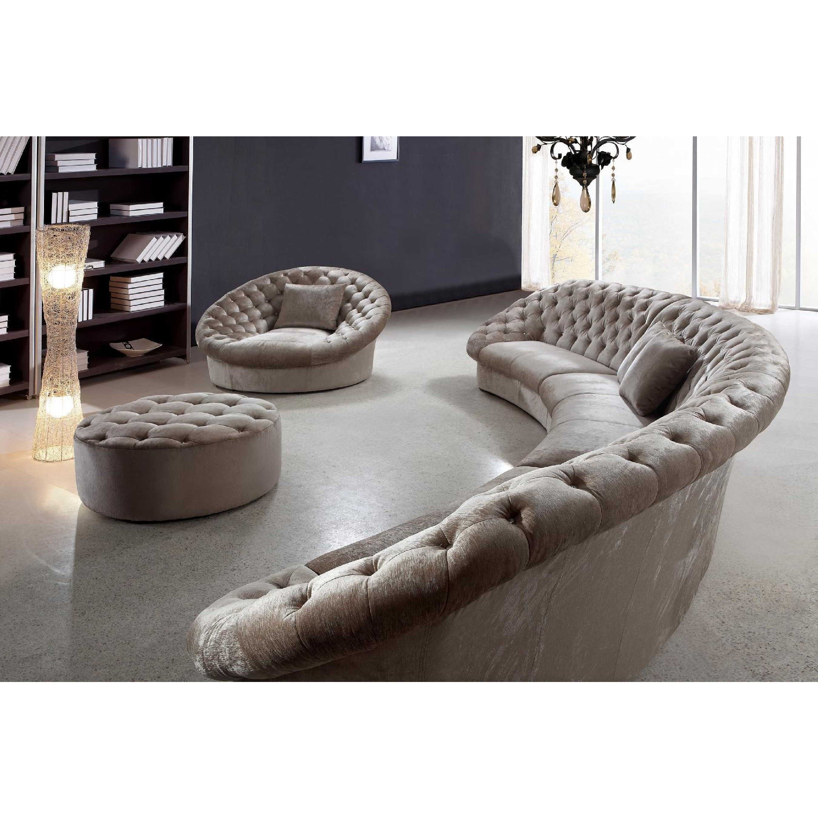 Curved Sectional Leather Sofa Curved Sectional Circle Couch Rh Pinterest Com