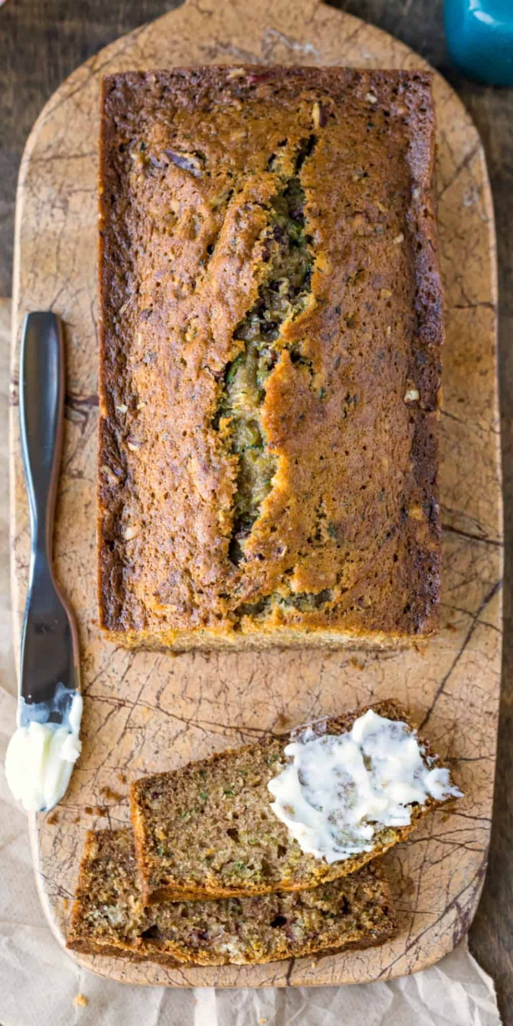 Best easy zucchini bread recipe Makes two loaves of moist perfectly spiced zucchini bread Includes tips on how to make zucchini bread