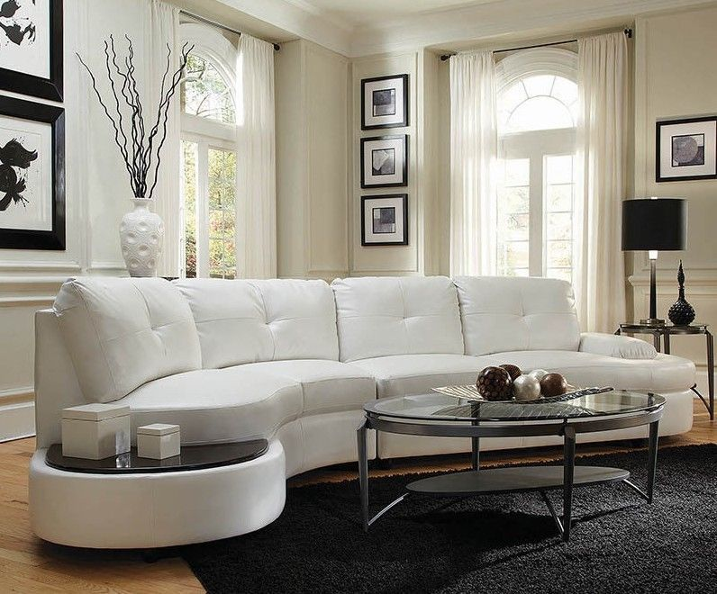 Comfortable Curved Sectional For Elegant Living Room Design Leather Curved Sofa Semi Circular Sofas Sect Sectional Sofas Living Room Leather Sofa Round Sofa