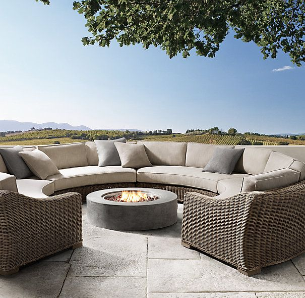 Provence Round Customizable Sectional Restoration Hardware Outdoor Outdoor Wicker Outdoor Furniture