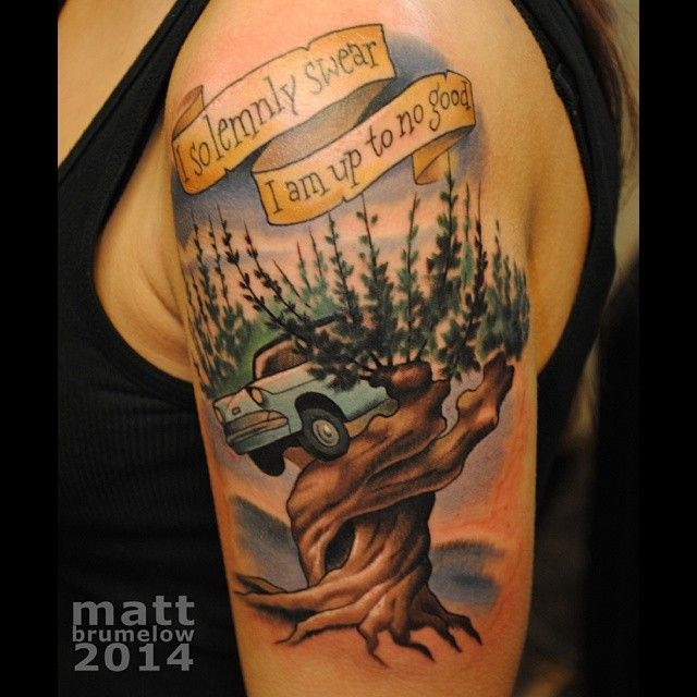 Harry Potter Tattoo | I Solemnly Swear I Am Up To No Good