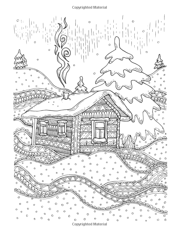 Amazon Com Jingle Frost Winter Christmas Coloring Book Detailed Zentangle Patterns For The C Christmas Coloring Books Coloring Books Pattern Coloring Pages