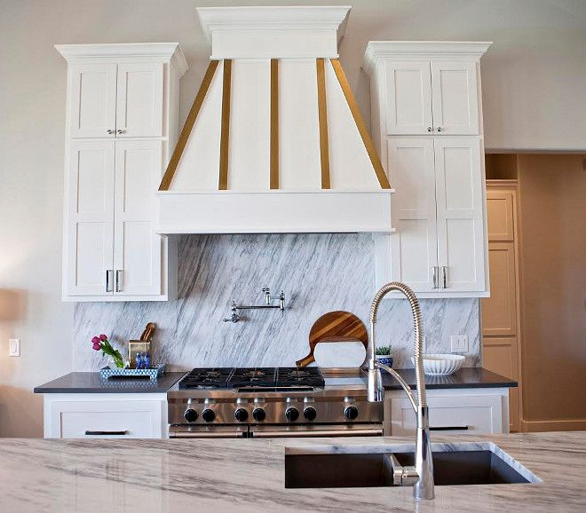 Hood Kitchen Hood The Hood Range Is Accented Beautifully In White And Gold Kitchen Hood Kitchen Gold Kitchen White Modern Kitchen White Kitchen Accessories