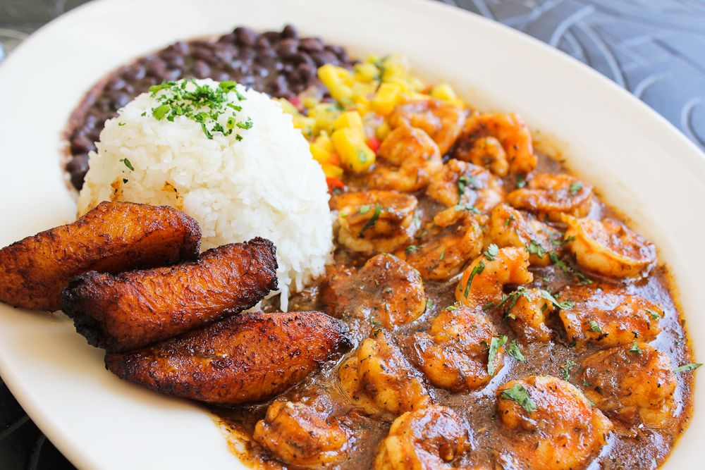 Jamaican Hot Pepper Shrimp Recipe Pepper Shrimp And Mango Salsa