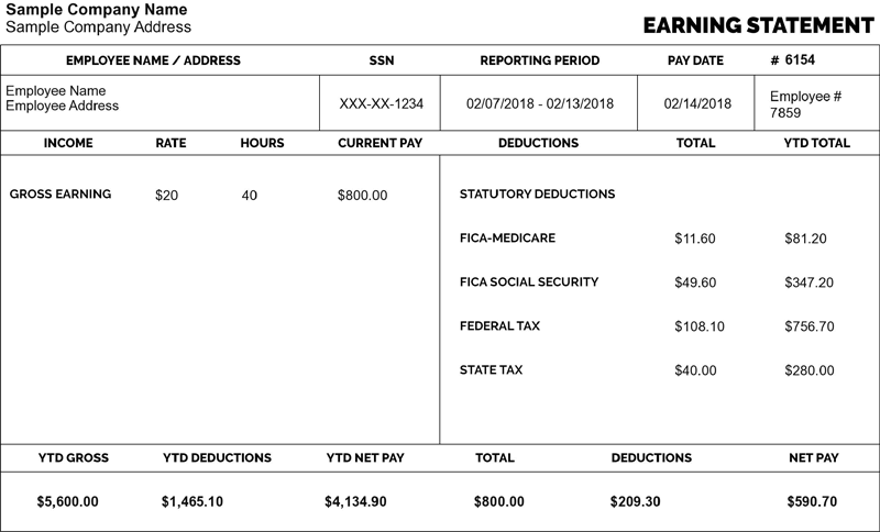 With Free Pay Stub Generator You Can Make Free Paycheck