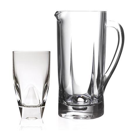 Set de jarra y seis vasos Diamante de RCR Crystal