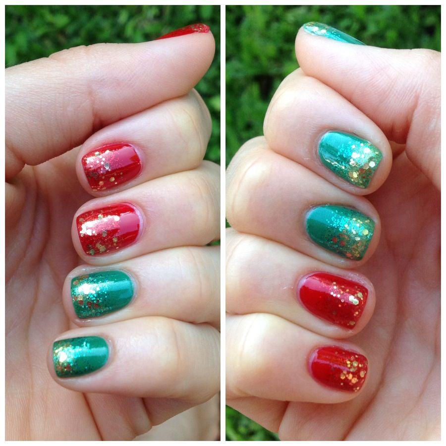 Unhas de natal! - Christmas' nails!