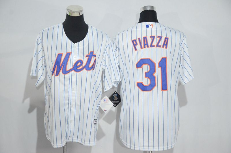 new york mets new material jerseys mets on front mens 31 mike piazza rh pinterest com