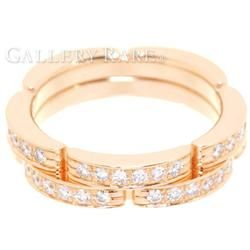 カルティエ リング マイヨンパンテール ハーフダイヤ ダイヤモンド 0.30ct K18PGピンクゴールド リングサイズ44 B4098844 B4098800 Cartier ジュエリー 指輪 ダイアモンド 2連リング