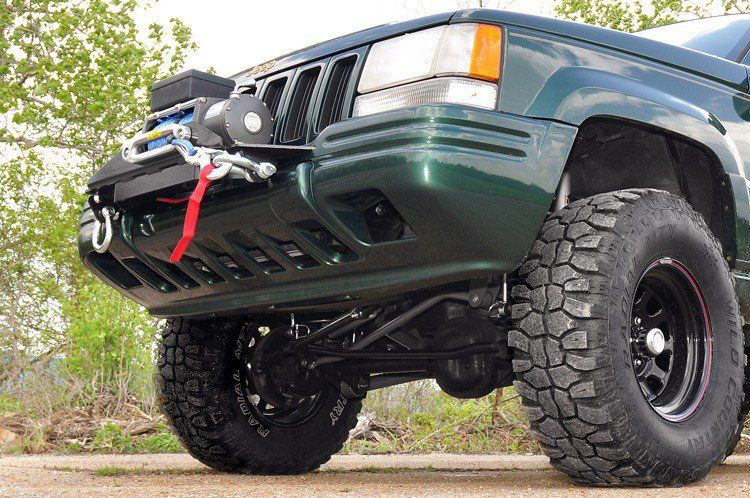 Jeep Winch Mounting Plate 93 98 Grand Cherokee Zj รถกระบะด ดแปลง