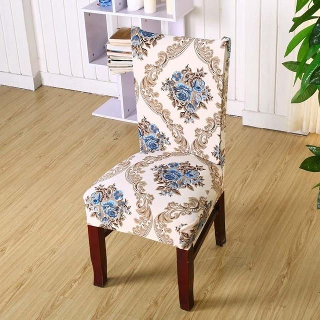 1Pcs Leaf Flower Heart Stretch Home Decor Dining Chair Cover Classy Stretch Covers For Dining Room Chairs Decorating Design