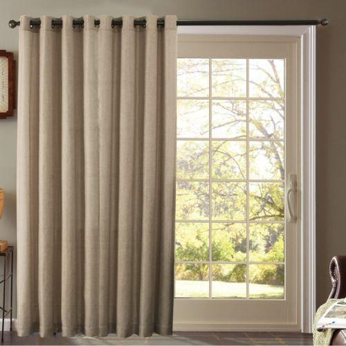 Furniture Fresh Burlap Look Blackout Thermal Faux Linen Pair Of