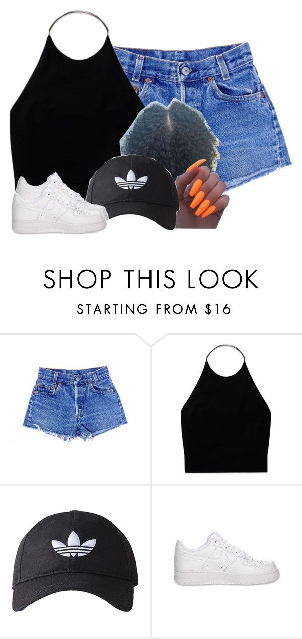 """""""Untitled #2575"""" by alisha-caprise ❤ liked on Polyvore featuring Wilfred, adidas Originals and NIKE"""