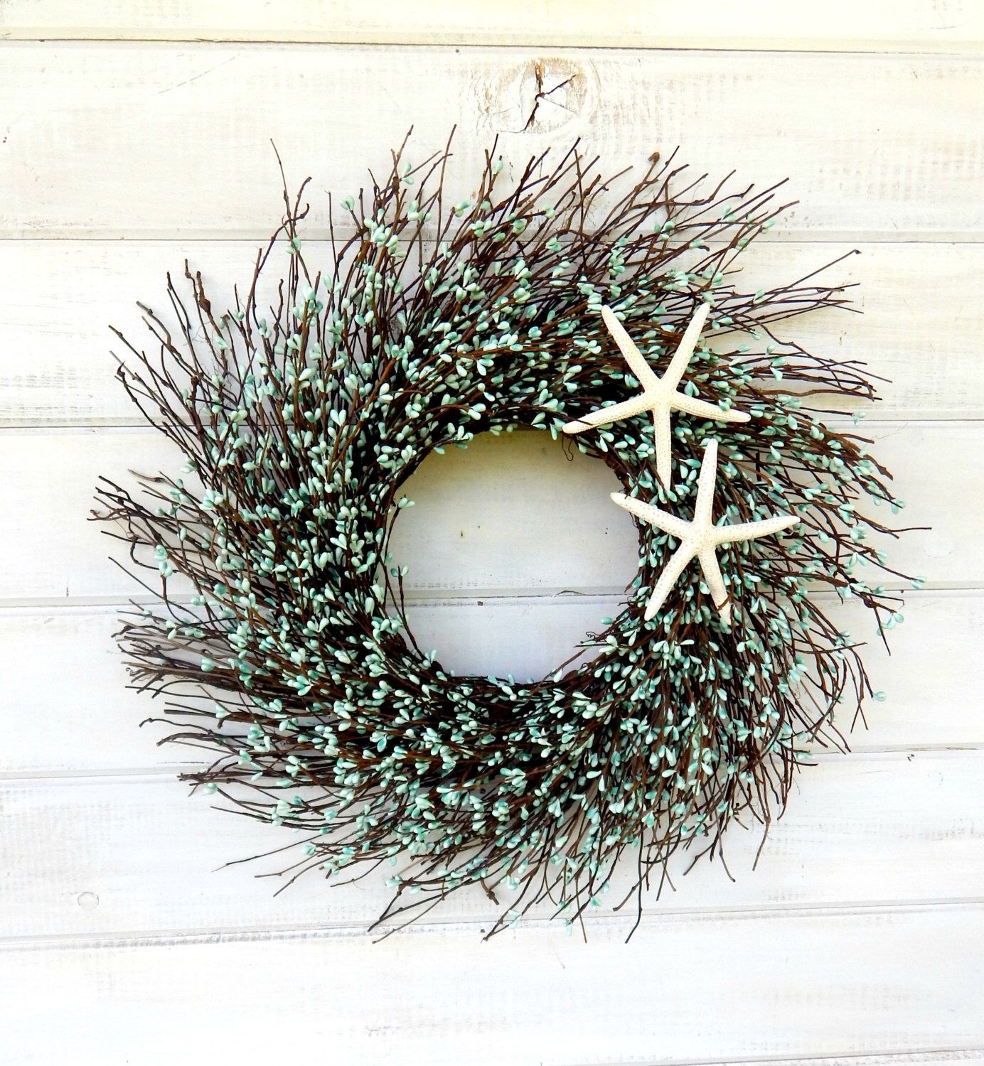 and how seashell misskopykat door pinterest wreath pin seaside doors to wreaths coastal from christmas