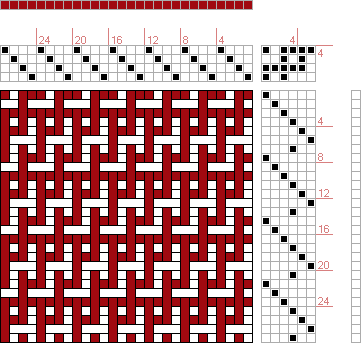 page 92, figure 1: Orimono soshiki hen [Textile System] | Kiju Yoshida | Japan | c. 1903 | 4-shaft, 6-treadle
