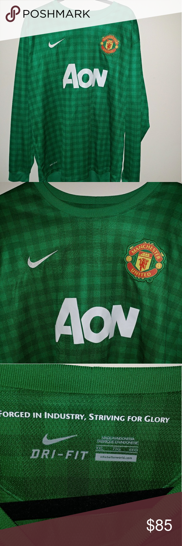 on sale d6375 96244 Green De Gea Green Checkered Nike jersey This Manchester ...