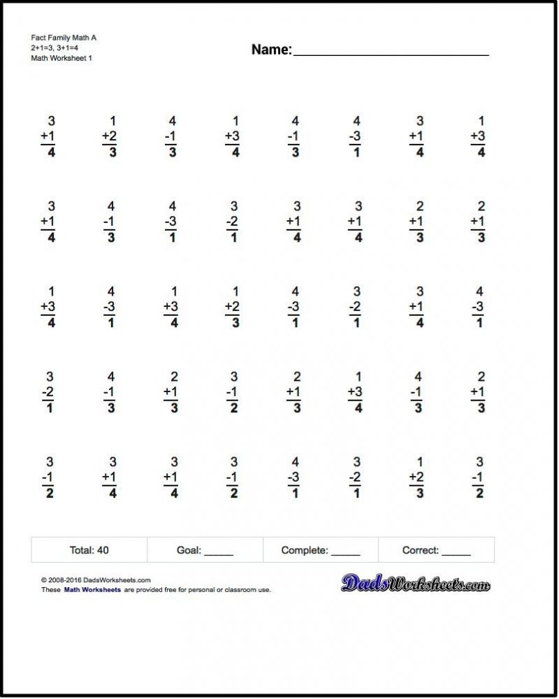 Math Printable Worksheets Addition Number Strings 3rd