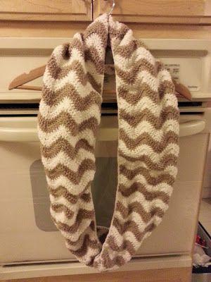 Free Chevron Crochet Scarf Pattern | I Love Crochet | Pinterest ...
