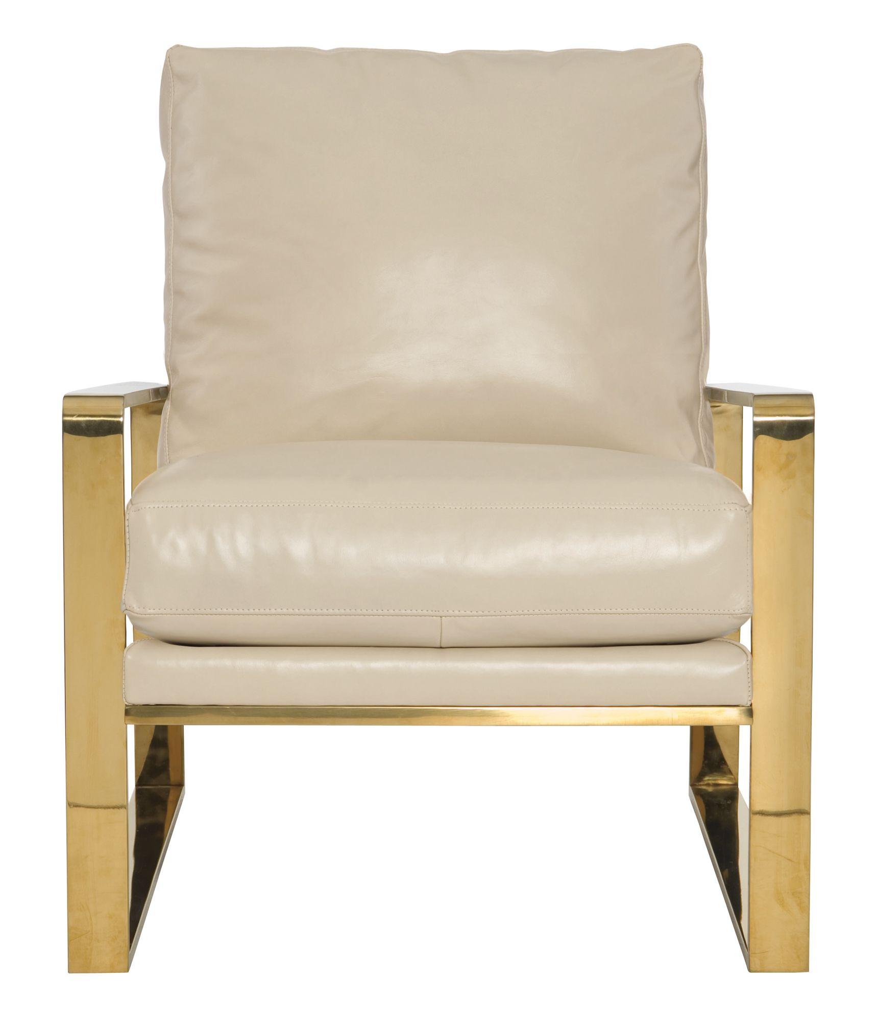 Dorwin Chair | Bernhardt N4103 Leather Shown 261 002 Gold #Metal Arm W 29