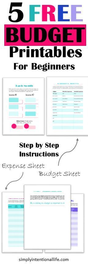 If you are looking to start a budget, grab these 5 free budget