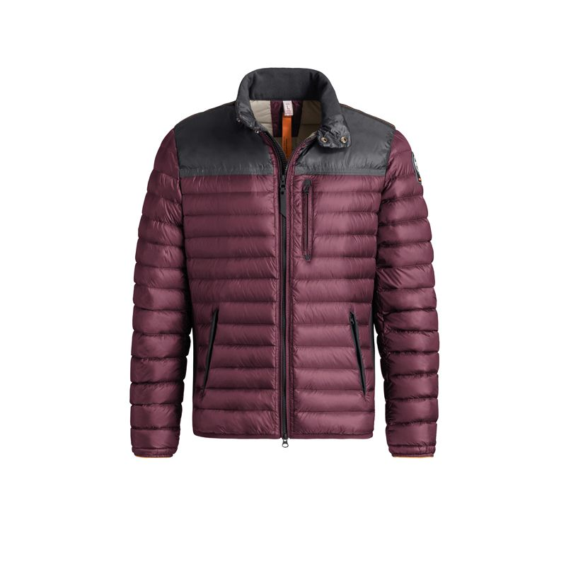 Men Parajumpers Bordeaux Evolution Kochi Super Light Down Jacket