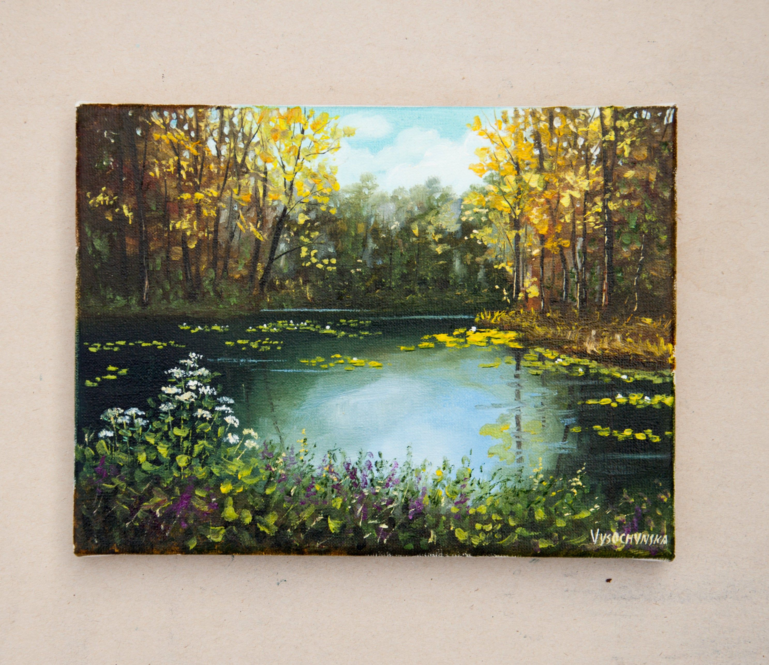 Forest Landscape Original Oil Painting Woodland Scene Small Etsy In 2020 Canvas Painting Landscape Oil Painting Nature Nature Canvas Painting