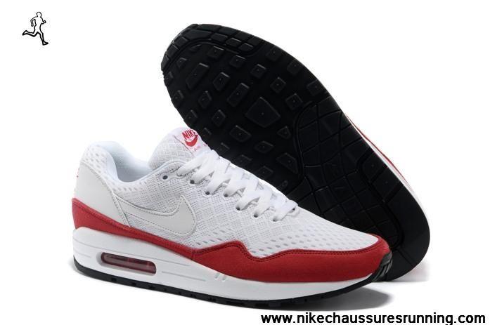 Blanc Rouge 2013 Nike Air Max 87 Femmes Chaussures